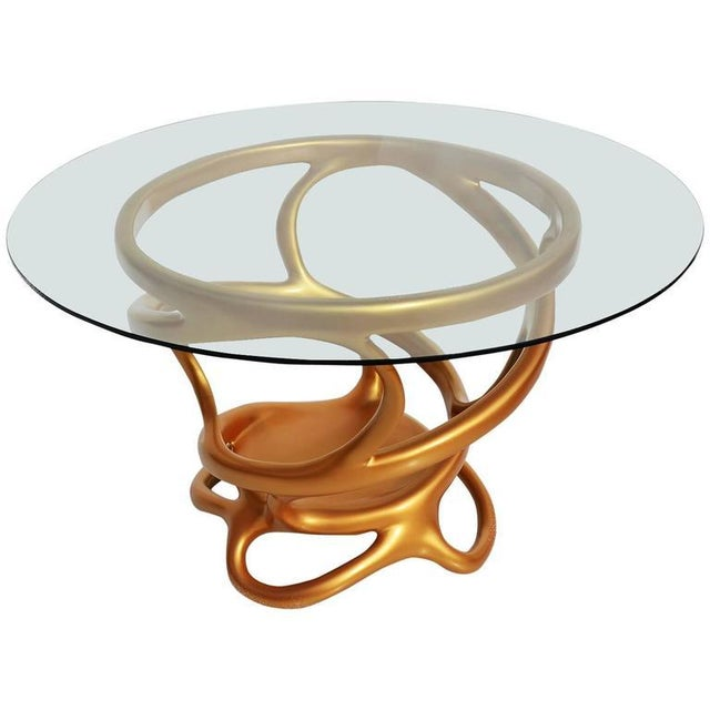 Freeform Gilded Entry or Occasional Table - Image 1 of 5