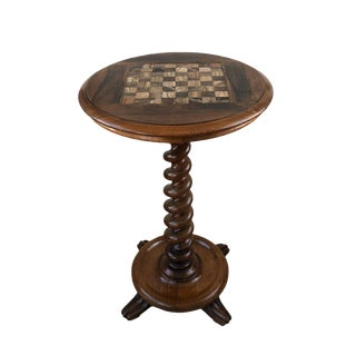 19th Century English Rosewood Games Table With Onyx Top For Sale
