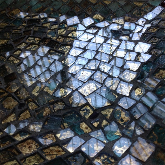 Gold Foil Glass Mosaic Tray - Image 5 of 11
