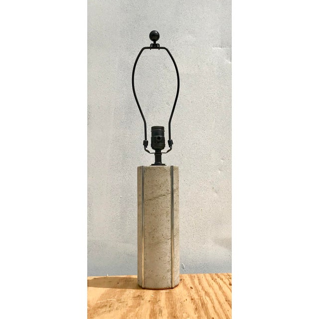 Not Yet Made - Made To Order Modern Doric Cement Table Lamp For Sale - Image 5 of 5