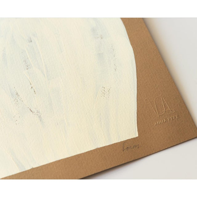 Contemporary Minimalist Abstract Gouache Painting For Sale - Image 4 of 4