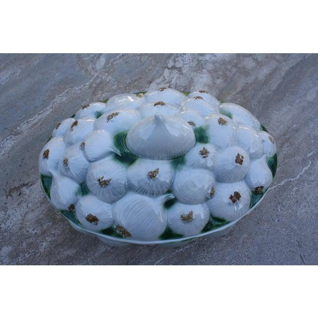 Neiman Marcus Italian Garlic Bulb Tureen / Covered Casserole Dish For Sale - Image 11 of 11
