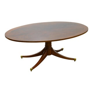 Kindel Flame Mahogany Elliptical Duncan Phyfe Style Coffee Table