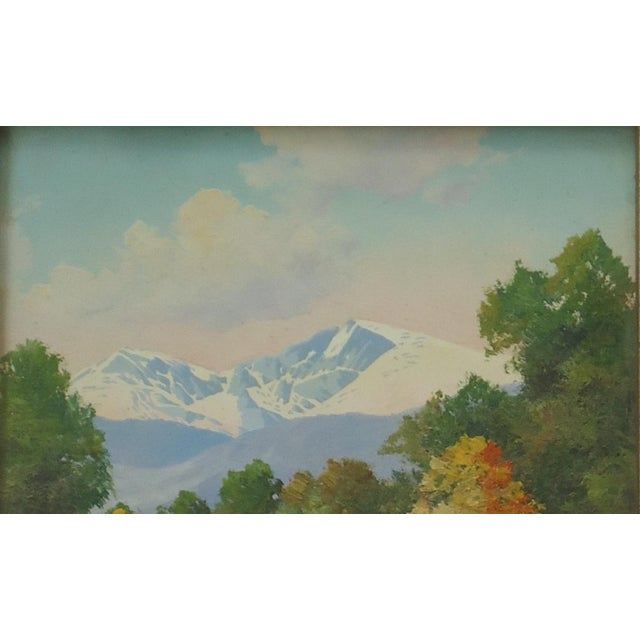 Willard Page Rocky Mountain Scene Painting For Sale - Image 4 of 8