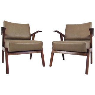 Pair Mid-Century Modern Italian Armchairs For Sale