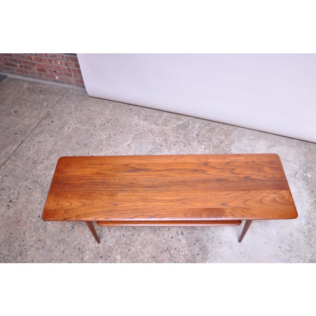 Peter Hvidt & Orla Mølgaard Nielsen Teak and Cane Coffee Table For Sale - Image 11 of 13