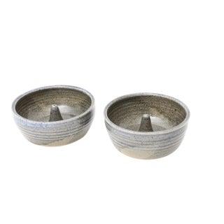 Mid-Century Modern Handmade Studio Pottery Ring Holder - Set of 2
