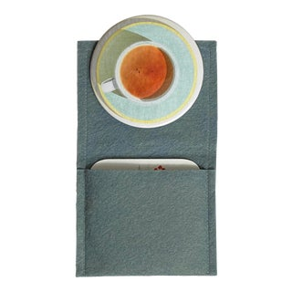 """Darjeeling"" - Pocket Mirror with wool-felt pouch For Sale"