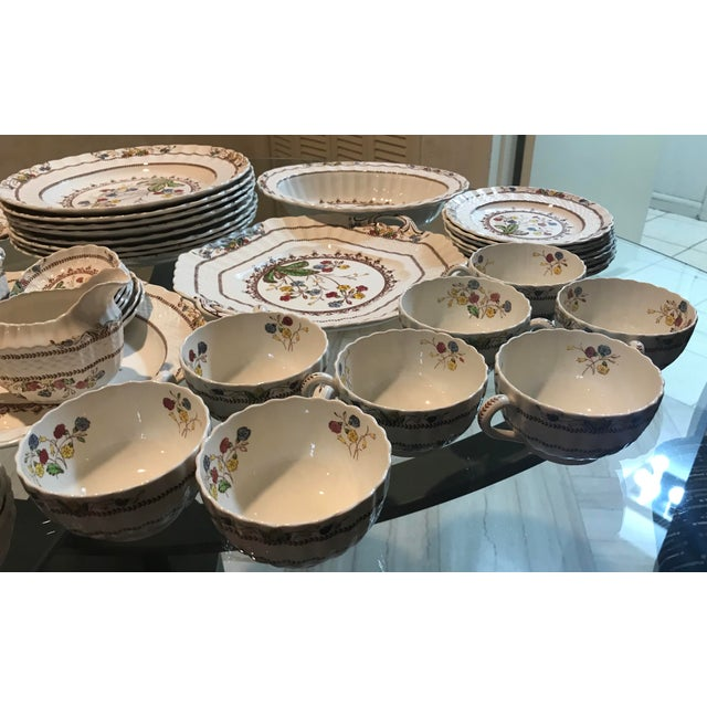 1940s Vintage Copeland Spode Cowslip China Set - 63 Pieces For Sale - Image 12 of 13