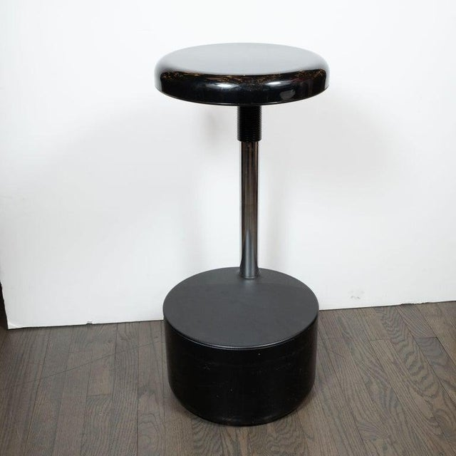 Black Mid-Century Modern Lucci & Orlandini for Velca Legnano Modern Stools - Set of 4 For Sale - Image 8 of 12