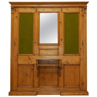 Antique French Pine Entry Hall Stand or Coat Tree For Sale