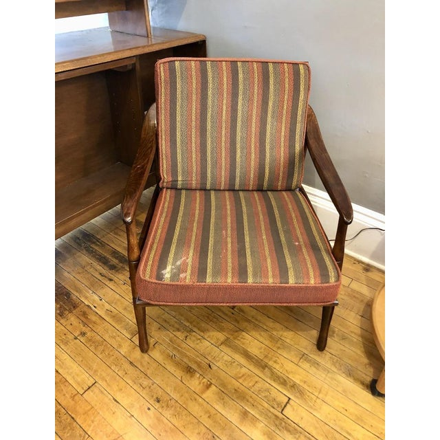 Wood Mid Century Italian Lounge Chair 1960's For Sale - Image 7 of 9