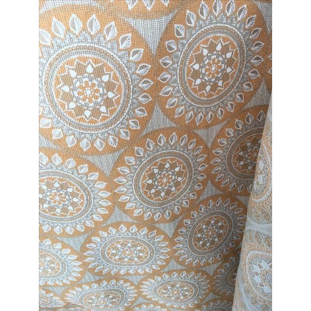 Duralee Medallion Tangerine Fabric - 5 Yards - Image 1 of 4