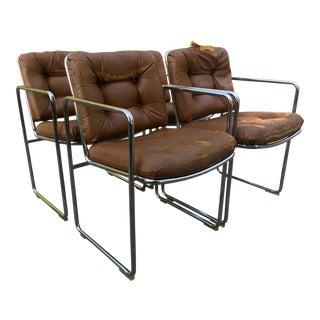 ChromCraft Tubular Chrome Dining Chairs - Set of 4