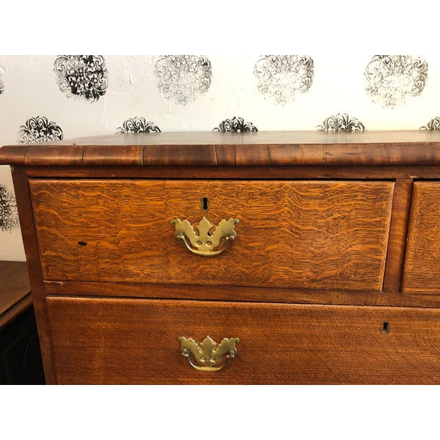 19th Century English Oak Chest For Sale - Image 4 of 13