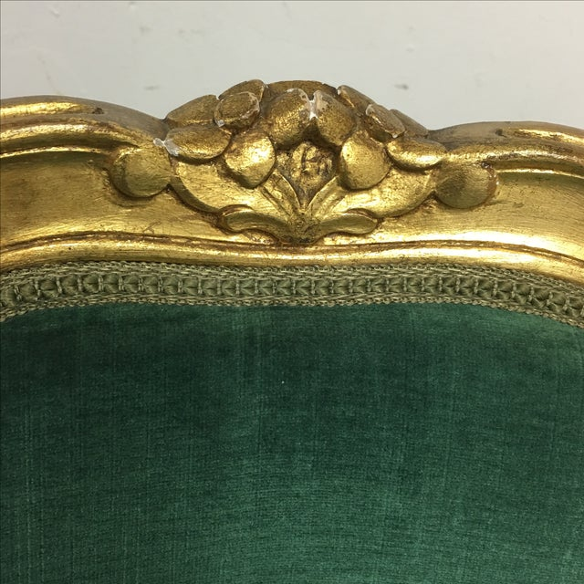 Vintage Green Louis XV Chairs - Pair For Sale - Image 5 of 7