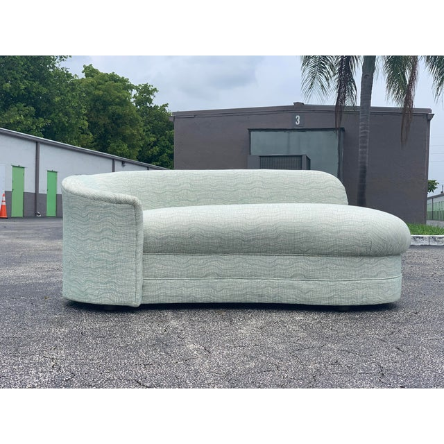 Mid-Century Modern Vladimir Kagan Style Petite Serpentine Cloid Sofa For Sale - Image 3 of 12