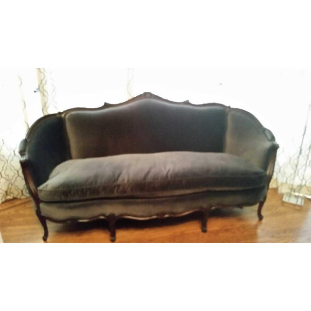 Vintage French Style Louis XV Sofa For Sale - Image 5 of 12