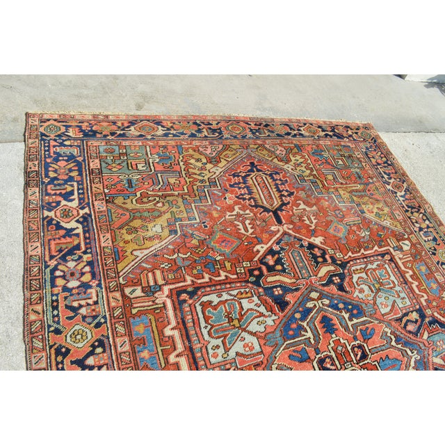 "Antique Persian Heriz Rug - 7'7"" X 10'11"" - Image 3 of 8"