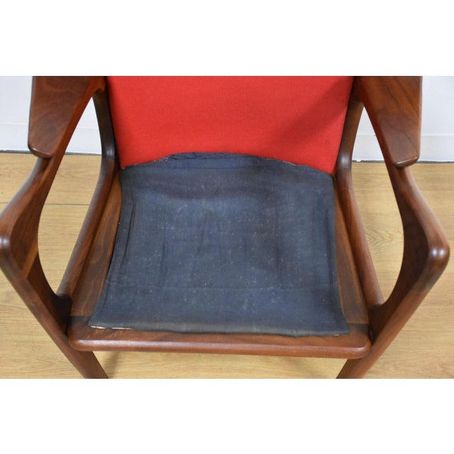 Adrian Pearsall Wing Back Lounge Chair For Sale - Image 10 of 11