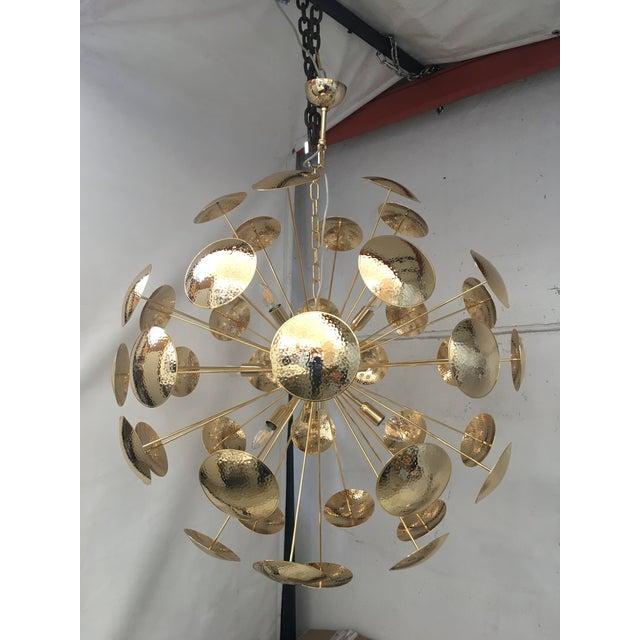 Huge and Rare Century Gold Metal Frame Sputnik Chandelier For Sale - Image 13 of 13
