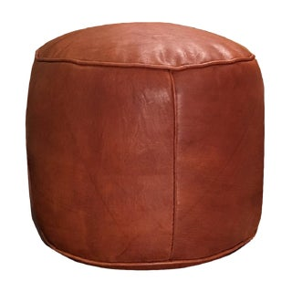 Tabouret Rustic Brown Moroccan Pouf Ottoman Cover For Sale