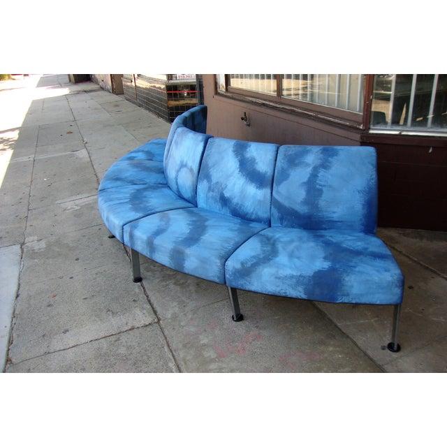 Mid-Century Modern Modern Semi Round Sofa For Sale - Image 3 of 13
