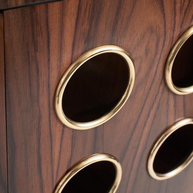 Marsailles Ebony 4-Door Credenza For Sale In San Francisco - Image 6 of 7