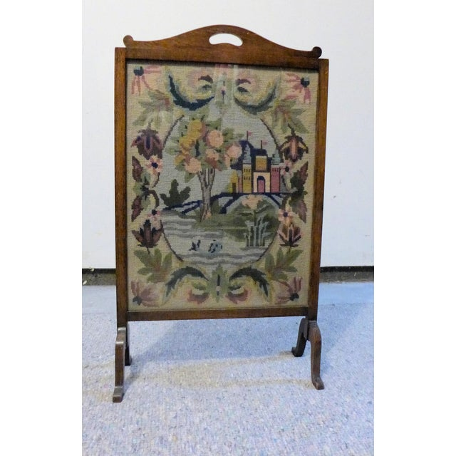 wood fireplace screens. Antique Wooden Fireplace Screen With Needlepoint Scenery Chairish Vintage Wood Screens  Ideas