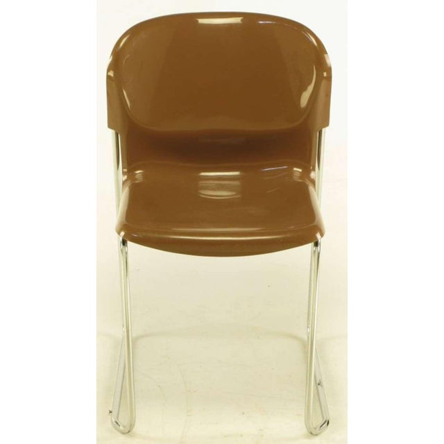 Four Gerd Lange West German Chrome SM 400 Swing Chairs - Image 4 of 9