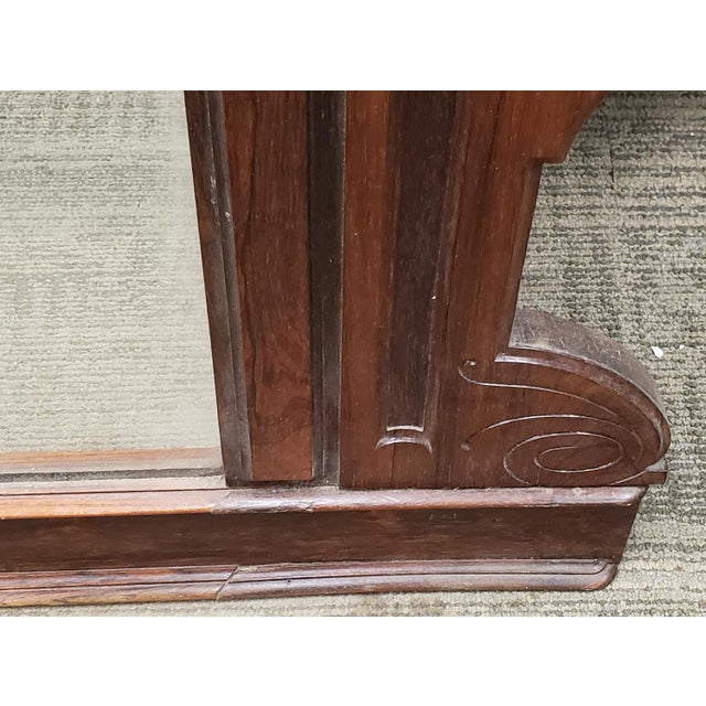 Antique Victorian Eastlake Style Rosewood Bedroom Dresser Mirror C1880 For Sale In New York - Image 6 of 9