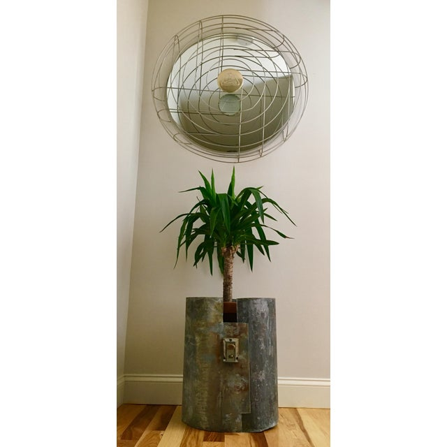 Art Deco Industrial Fan Cage Mirror For Sale - Image 3 of 8