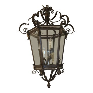 La Barge Lantern Style Hanging Lamp For Sale