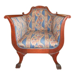Victorian Empire Revival Armchair For Sale