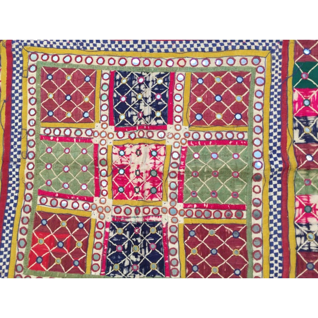 Afghan Late 19th Century Embroidered Ceremonial Chakla Cloth Textile For Sale - Image 3 of 11