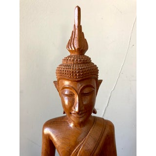 Vintage Carved Wood Buddha Preview