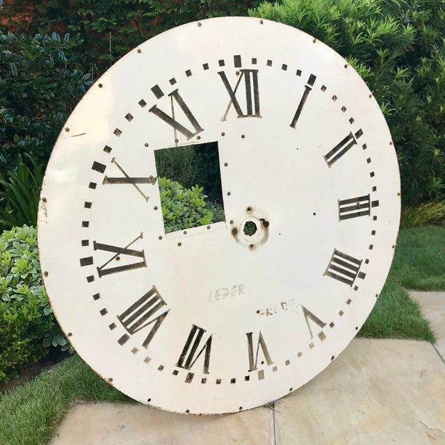 A nice late 19th early 20th century French clock face