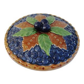 1970s Ceramic Lidded Blueberry Pie Keeper For Sale