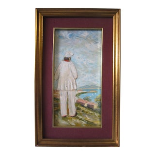 1980s Triscino Italian Signed Painting For Sale