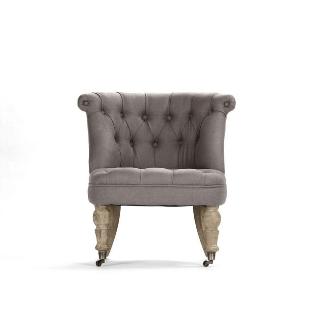 Shelley Slipper Chair in Gray For Sale In Atlanta - Image 6 of 6