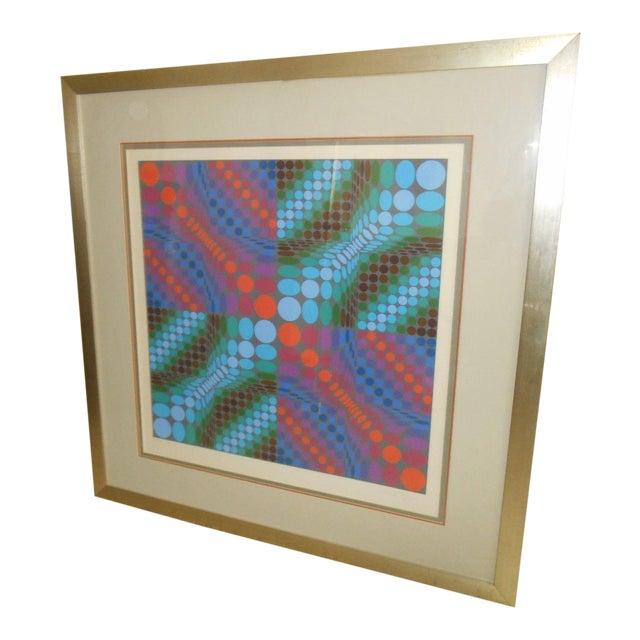 Victor Vasarely Op Art Silkscreen - Image 1 of 8