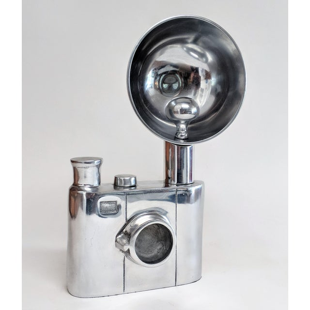 Aluminum Vintage Flash Camera Sculpture For Sale - Image 10 of 11