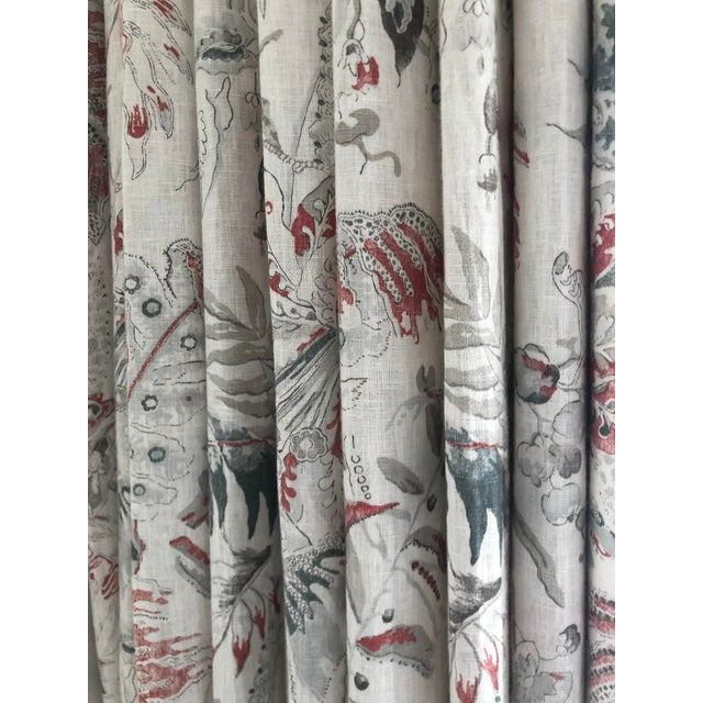 Colefax & Fowler Designer Drapery Full Window Treatment 1 of 3 For Sale