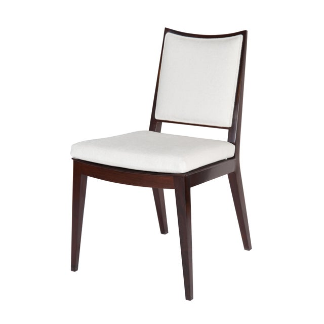 Mid-Century Modern Set of 8 Frame Back Dining Chairs For Sale - Image 3 of 7