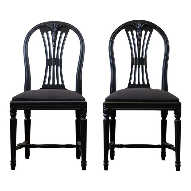 Swedish Axet Dining Chairs - a Pair For Sale - Image 4 of 4