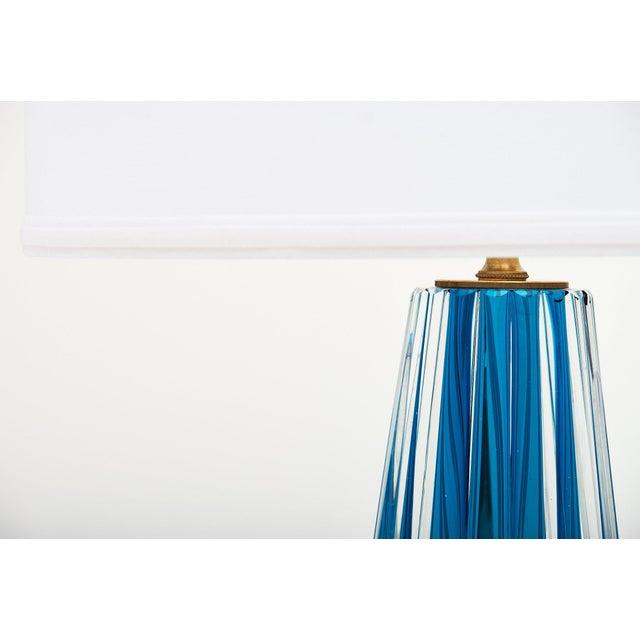 Murano Glass Mirrored Aqua Lamps For Sale - Image 9 of 11