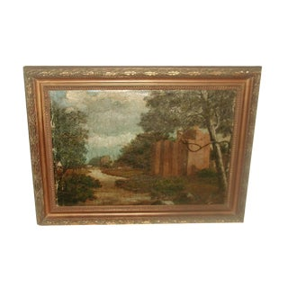 19th Century English Framed Oil Painting For Sale