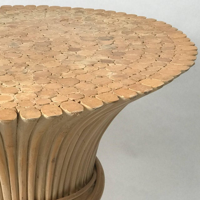 Wood John and Elinor McGuire Round Bamboo Coffee or Centre Table For Sale - Image 7 of 9