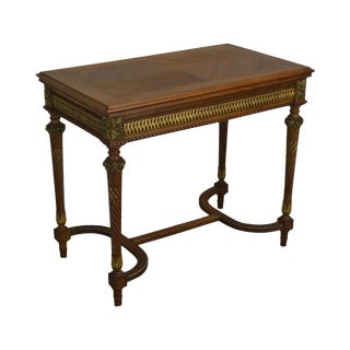 French Louis XVI Antique 19th Century Walnut Game Table W/ Roulette For Sale