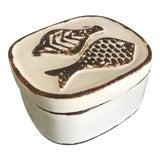 Image of Contemporary Ceramic Fish Box For Sale